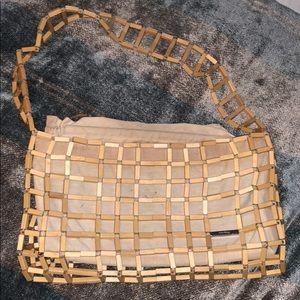 Authentic Wooden Ferragamo Purse